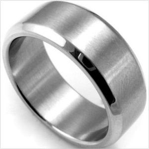 Men's Stainless Steel Silver Comfort Fit Band